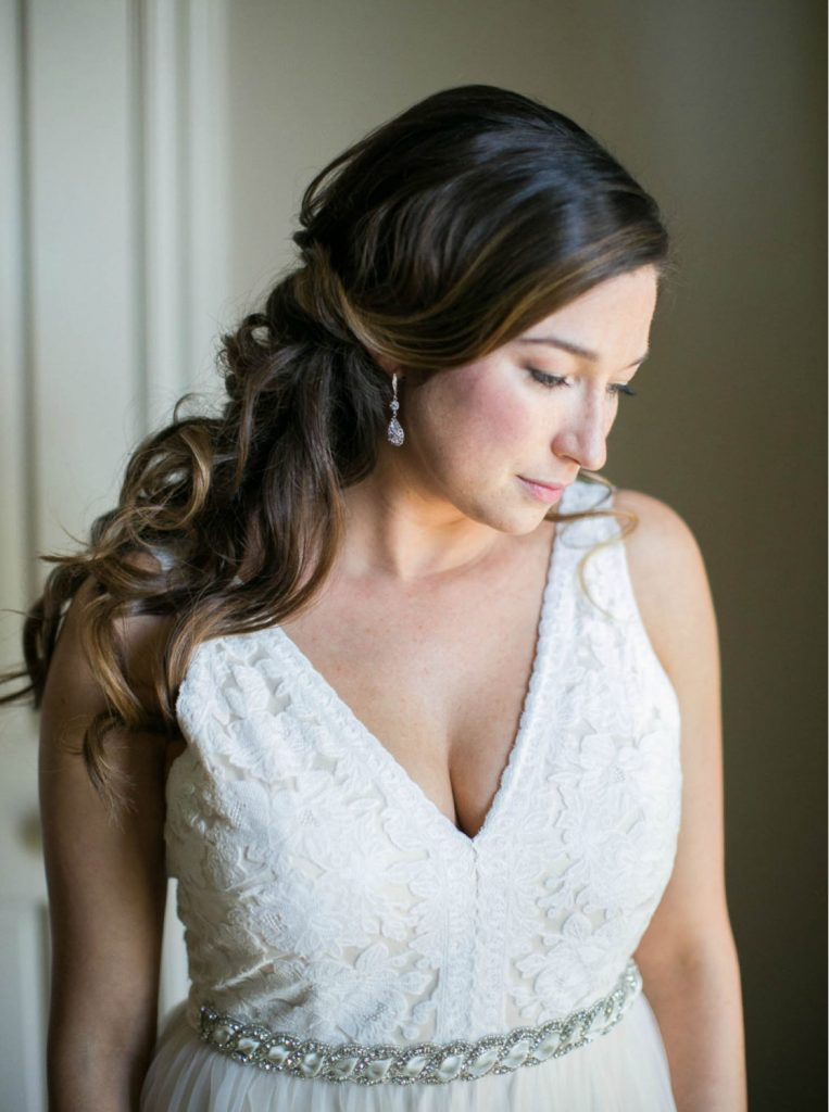 classic bridal portrait shot on film