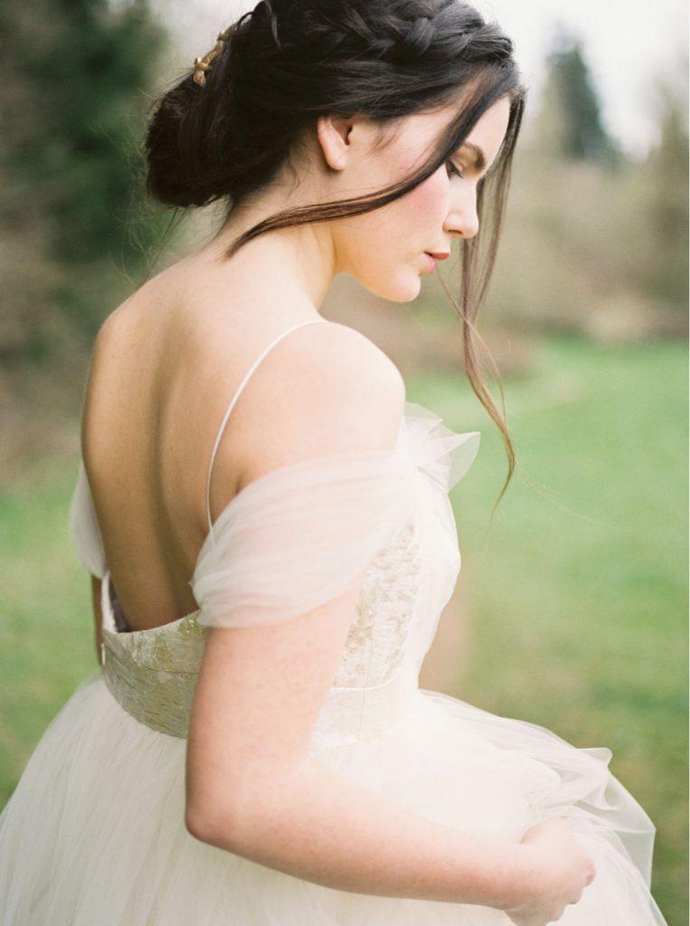 spring editorial bridal look