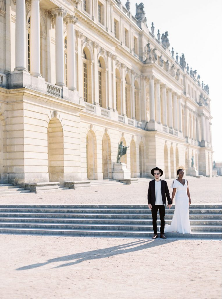 Chateau de Versailles editorial shoot with Black queen