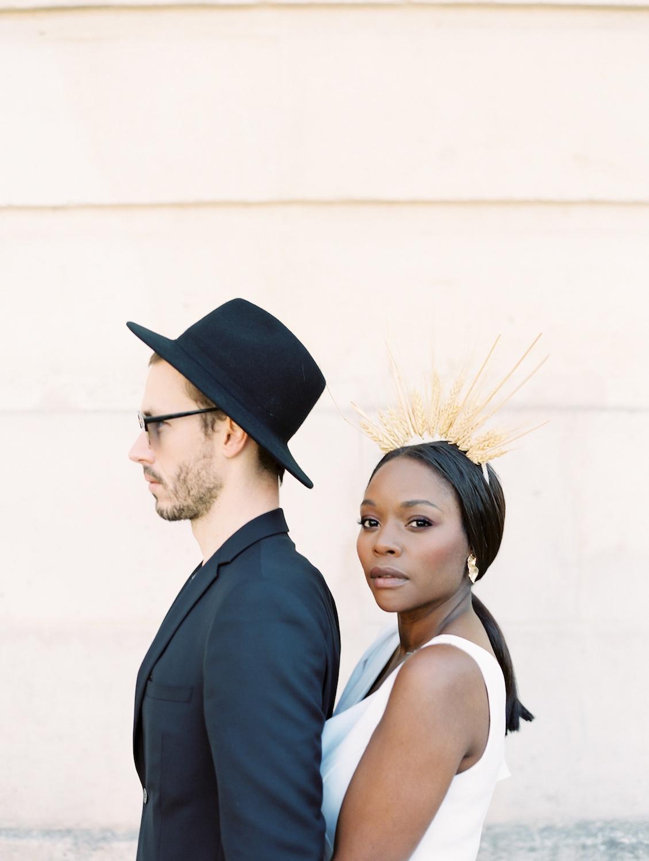 fine art portrait of Parisian couple by D'Arcy Benincosa